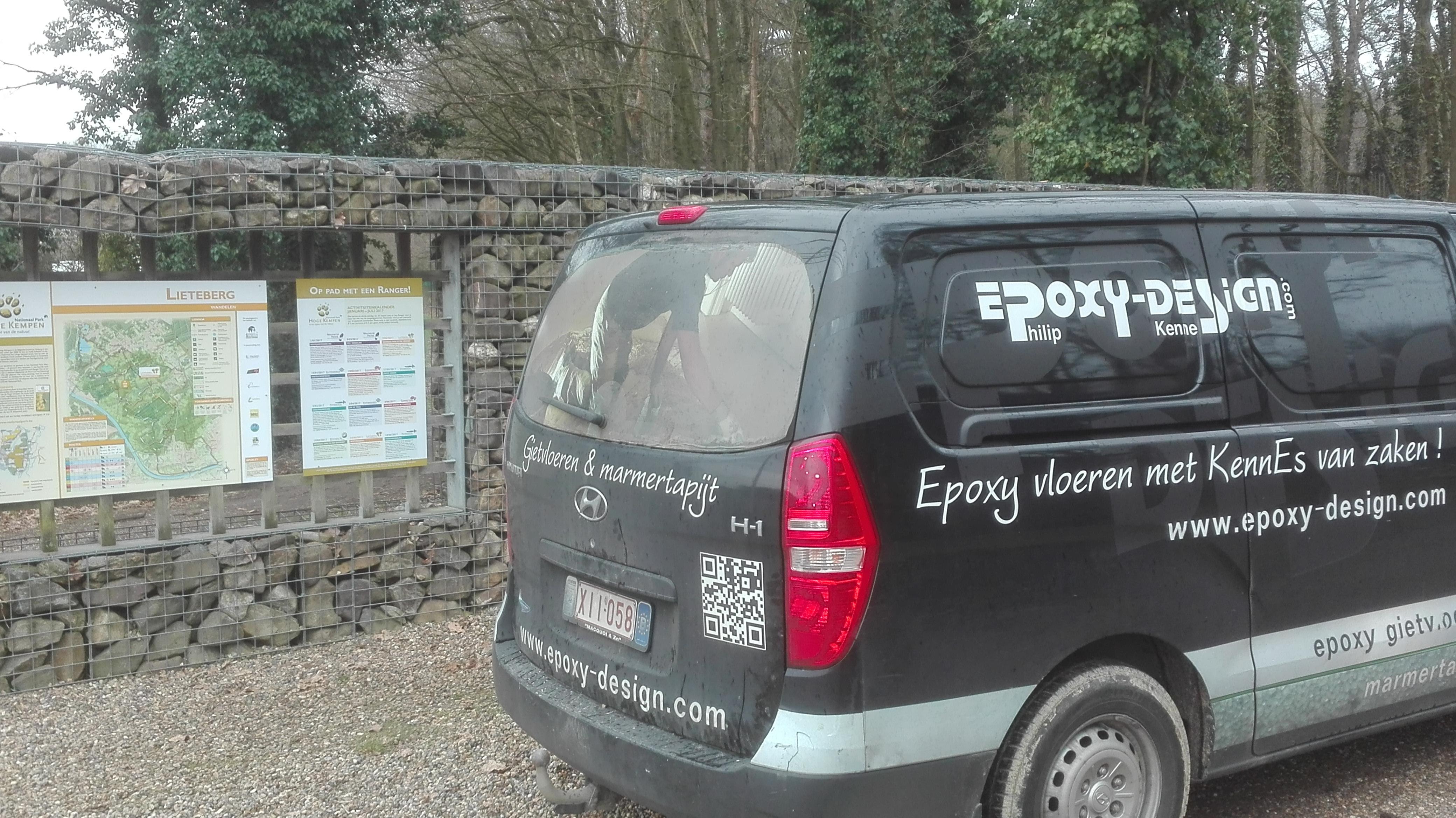 EPOXY-DESIGN's ingestrooide gietvloer Blotevoetenpad Zutendaal opgeleverd.