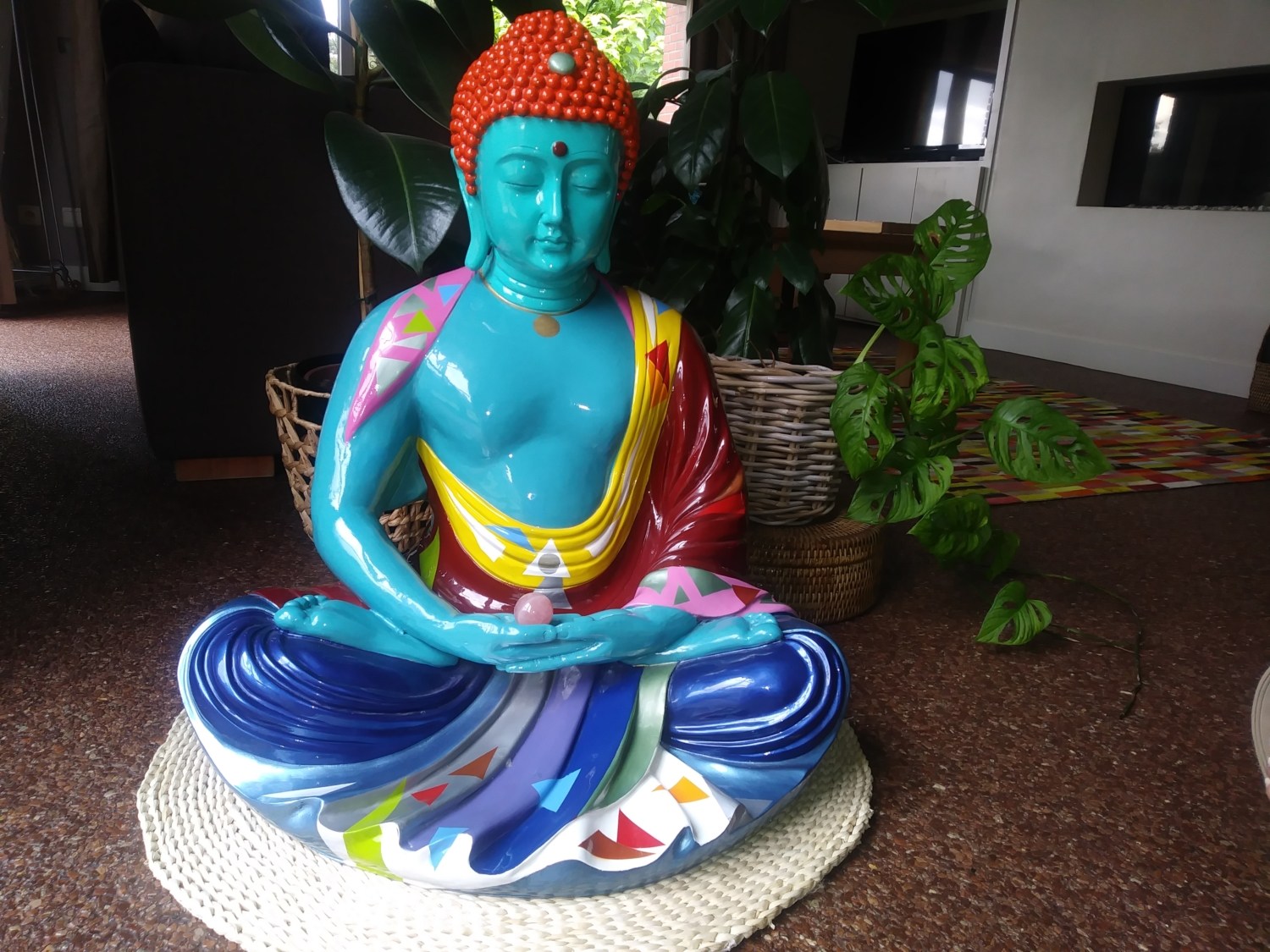 Buddha van Harry Segil. Color your life!  Color your house!
